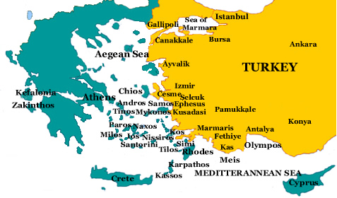 Islands Of Greece Map.Ferry To Greek Islands Greece Destinations Athens Greece Tours